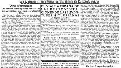 Recorte de ABC del 14 de octubre de 1941