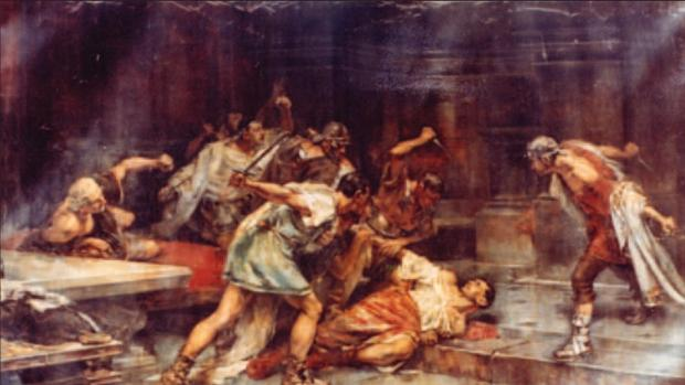 «La muerte de Sertorio», cuadro de Vicente Cutanda - Wikimedia