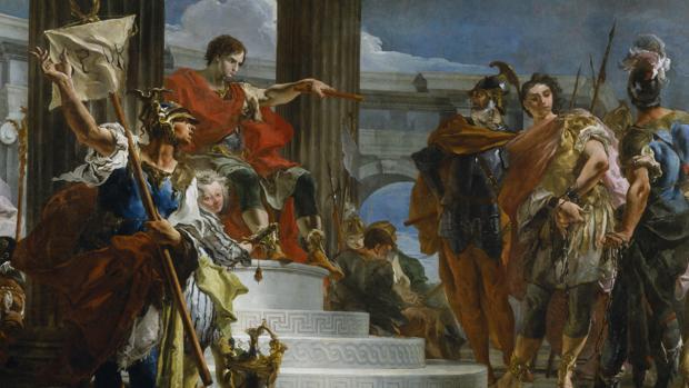Escipión «El Africano» ordena liberar al sobrino del Príncipe de Nubia después de que fuera capturado por Roma - The Walters Art Museum