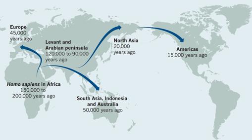 Algunos investigadores creen que hubo al menos dos grandes migraciones desde África- NATURE