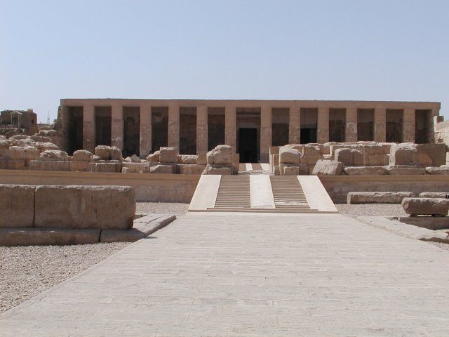 Templo del monarca Seti I en Abydos. NÉFERMAÂT