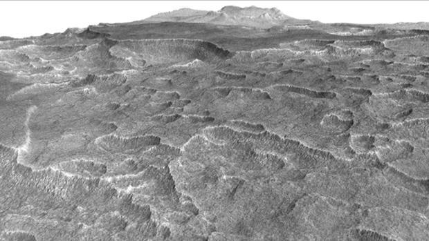Las formas distintivas de la superficie de Utopia Planitia llevaron a los investigadores a comprobar si había hielo subterráneo - NASA / JPL-Caltech / Univ. de Arizona