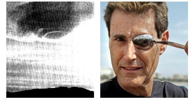 A la izquierda, a la derecha, Uri Geller, famoso por doblar cubiertos con la mente en televisión - ABC