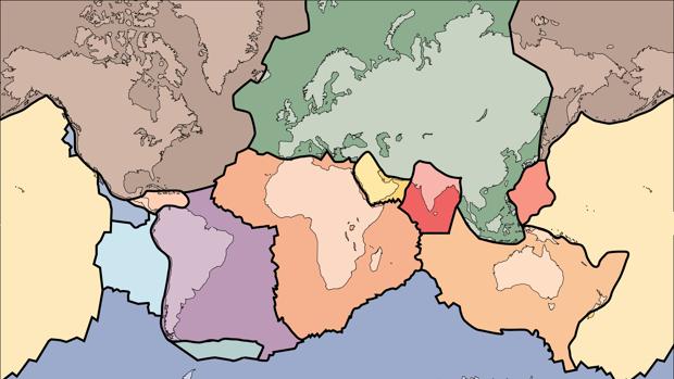 Las placas tectónicas, en la actualidad - USGS
