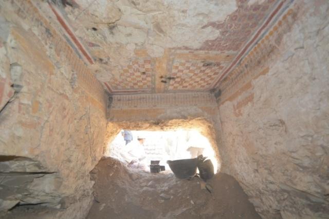 Tumba del escribano real de la época ramésida descubierta en el sur de Egipto MINISTERIO DE ANTIGÜEDADES EGIPCIO