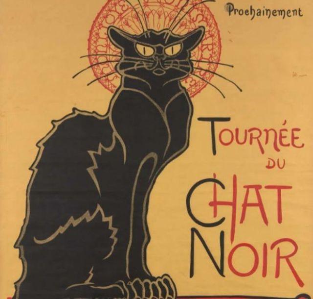 "Cartel publicitario ""Le chat Noir"" de Théophile Alexandre Steinlen. Alexandre SteinlenMUSEO VAN GOGH"